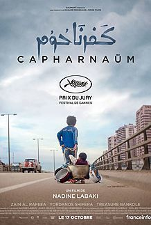 "Movie poster for ""CAPHARNAUM"""