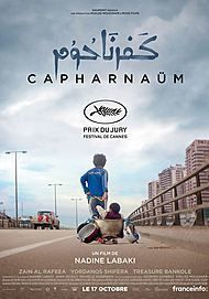 "Movie poster for ""CAPHARNAÜM"""