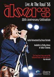 "Movie poster for ""THE DOORS: LIVE AT THE BOWL '68"""