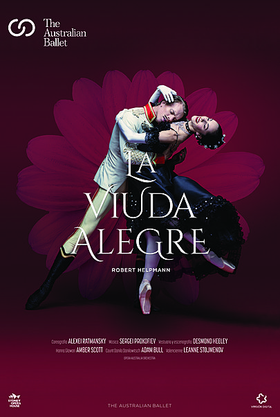 "Movie poster for ""THE MERRY WIDOW: FROM THE AUSTRALIAN BALLET"""