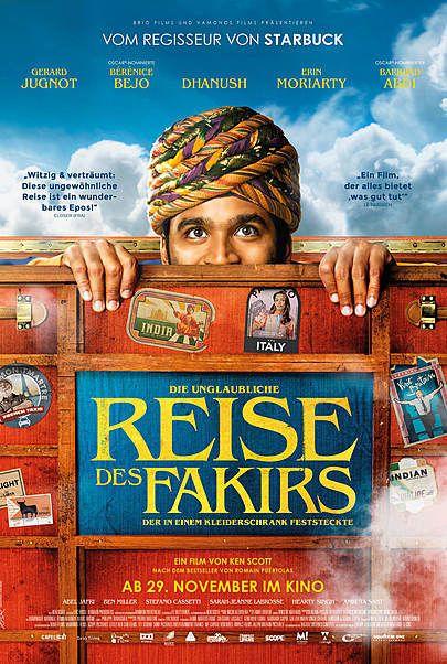 """Filmplakat für """"Die unglaubliche Reise des Fakirs, der in einem Kleiderschrank feststeckte"""""""