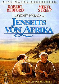 """Filmplakat für """"Jenseits von Afrika"""""""