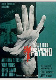 "Movie poster for ""PSYCHO"""