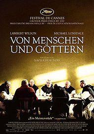 "Movie poster for ""Des hommes et des dieux"""