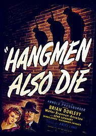 "Movie poster for ""HANGMEN ALSO DIE!"""