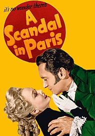 "Movie poster for ""A SCANDAL IN PARIS"""