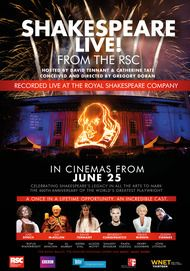 "Movie poster for ""SHAKESPEARE LIVE! (Royal Shakespeare Company)"""