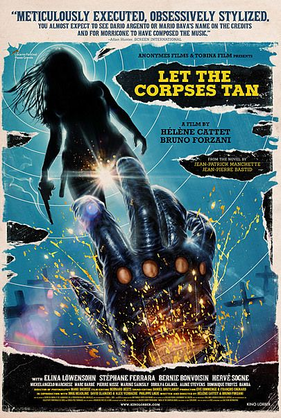 "Movie poster for ""LET THE CORPSES TAN"""