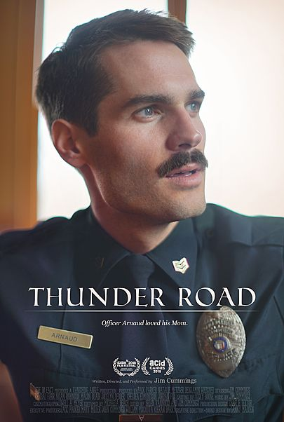 "Movie poster for ""THUNDER ROAD"""