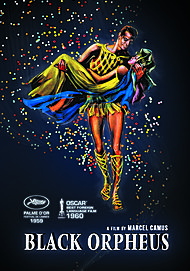 "Movie poster for ""BLACK ORPHEUS"""