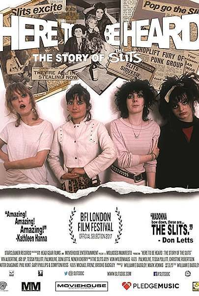 "Filmplakat für ""Here to Be Heard: The Story of the Slits"""