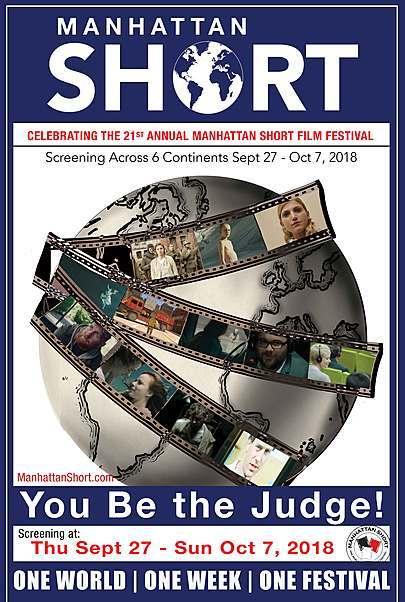 """Movie poster for """"MANHATTAN SHORT FILM FESTIVAL 2018"""""""