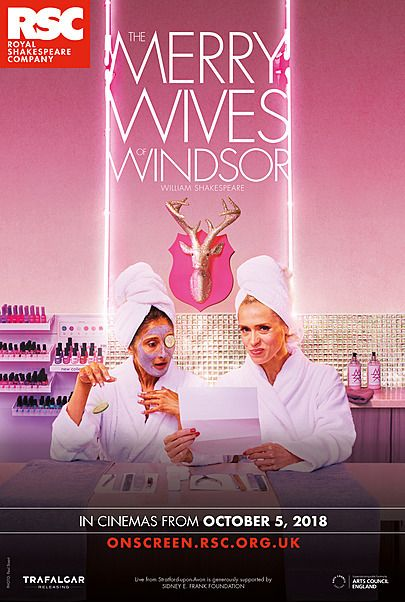 "Movie poster for ""THE MERRY WIVES OF WINDSOR - ROYAL SHAKESPEARE COMPANY"""