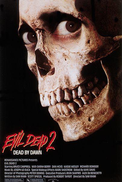 "Movie poster for ""EVIL DEAD 2 (4K Restoration Re-Issue)"""