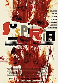 "Movie poster for ""SUSPIRIA"""