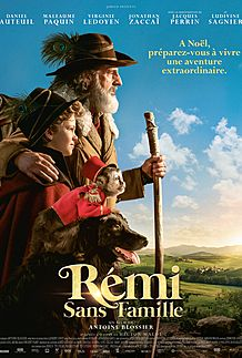 "Movie poster for ""REMI SANS FAMILLE"""