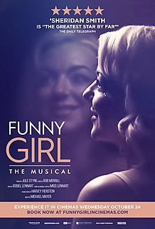 "Movie poster for ""FUNNY GIRL"""