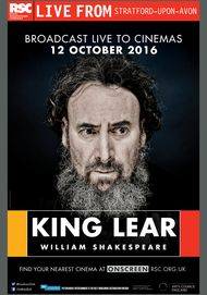 "Movie poster for ""RSC Live: KING LEAR"""