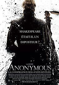 """Movie poster for """"ANONYMOUS"""""""