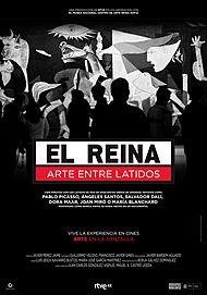 """Movie poster for """"EL REINA. ARTE ENTRE LATIDOS"""""""