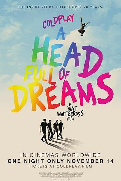 "Movie poster for ""COLDPLAY: A HEAD FULL OF DREAMS"""