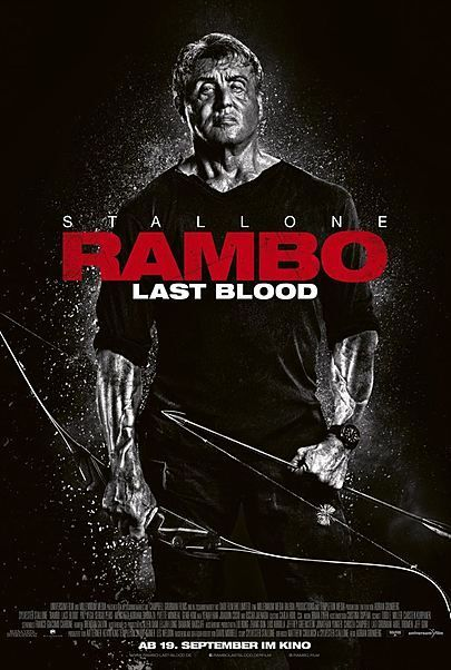 "Movie poster for ""RAMBO: LAST BLOOD"""