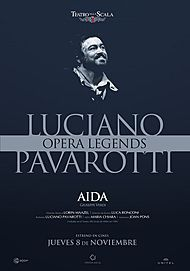 "Movie poster for ""AIDA - OPERA LEGENDS. LUCIANO PAVAROTTI"""