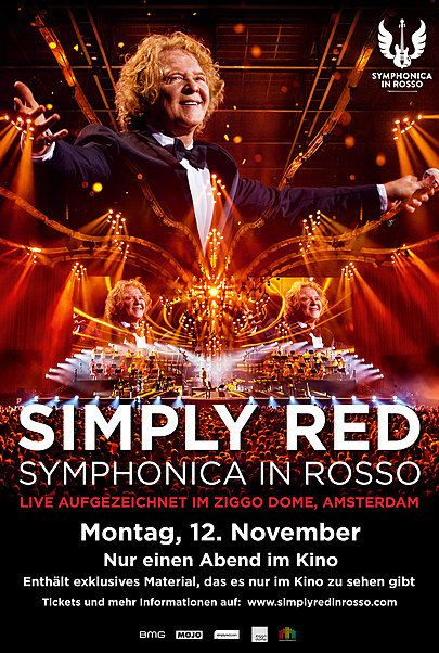 """Filmplakat für """"Simply Red - Symphonica in Rosso"""""""