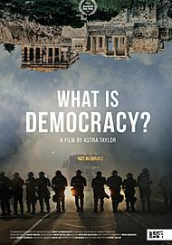 "Movie poster for ""WHAT IS DEMOCRACY?"""
