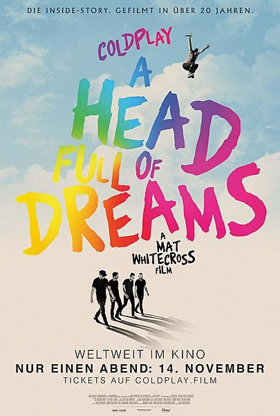 "Filmplakat für ""COLDPLAY: A HEAD FULL OF DREAMS"""