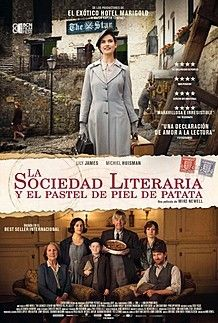 "Movie poster for ""THE GUERNSEY LITERARY AND POTATO PEEL PIE SOCIETY"""