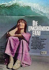 """Movie poster for """"Die linkshändige Frau"""""""