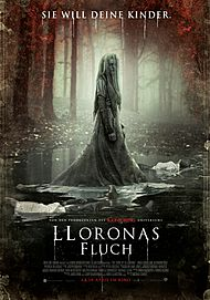 "Movie poster for ""THE CURSE OF LA LLORONA"""