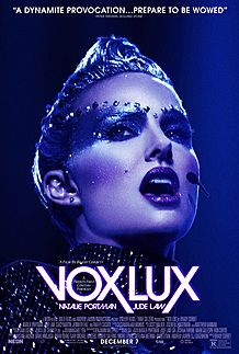 "Movie poster for ""VOX LUX"""