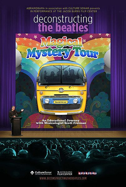 "Movie poster for ""DECONSTRUCTING THE BEATLES: MAGICAL MYSTERY TOUR"""