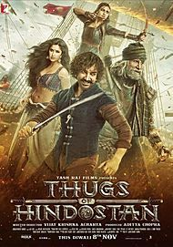 "Movie poster for ""Thugs of Hindostan"""