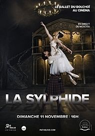 "Movie poster for ""LA SYLPHIDE - BOLSHOI 2018"""