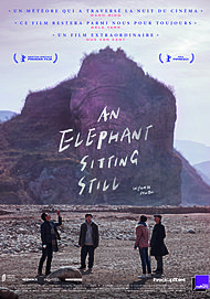 "Movie poster for ""AN ELEPHANT SITTING STILL"""