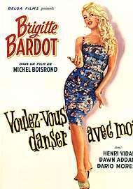 """Movie poster for """"VOULEZ-VOUS DANSER AVEC MOI?"""""""