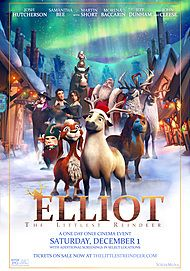 "Movie poster for ""ELLIOT: THE LITTLEST REINDEER"""