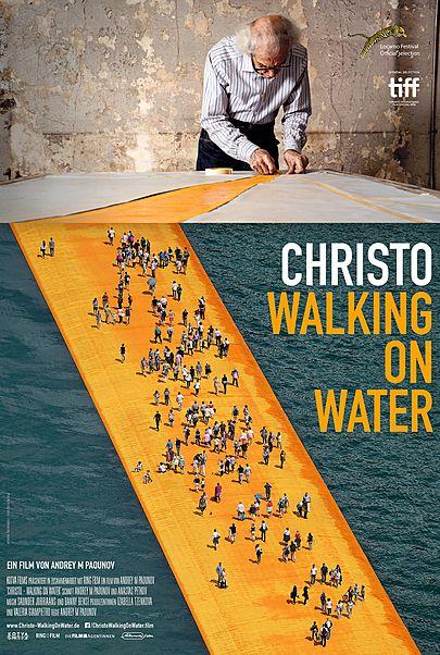 """Filmplakat für """"Christo - Walking On Water"""""""