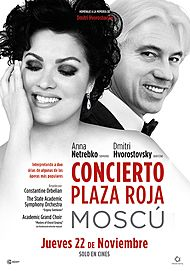 "Movie poster for ""RED SQUARE CONCERT. ANNA NETREBKO Y DMITRI HVOROSTOVSKY"""