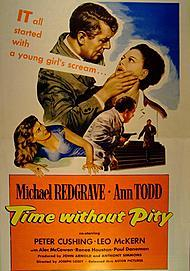 """Movie poster for """"TIME WITHOUT PITY"""""""
