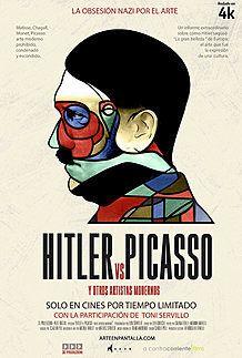 """Póster para """"HITLER VS PICASSO (Y OTROS ARTISTAS MODERNOS)"""""""