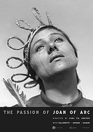 "Movie poster for ""THE PASSION OF JOAN OF ARC (Voices of Light)"""