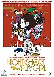 "Movie poster for ""THE NIGHT IS SHORT, WALK ON GIRL"""