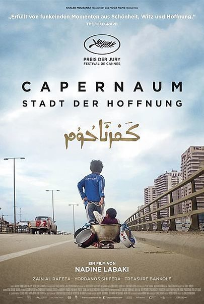 "Movie poster for ""CAPERNAUM"""