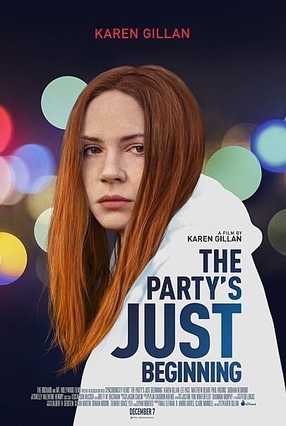 "Movie poster for ""THE PARTY'S JUST BEGINNING"""