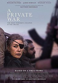 "Movie poster for ""A Private War"""