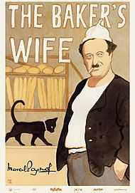"Movie poster for ""THE BAKER'S WIFE"""